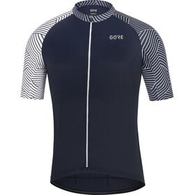GORE WEAR C5 Optiline Koszulka rowerowa z zamkiem błyskawicznym Mężczyźni, niebieski/biały